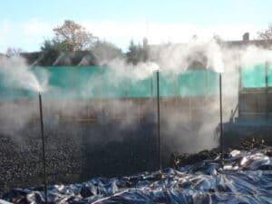 DUSTELIM Foam Stops the Dust Uprising